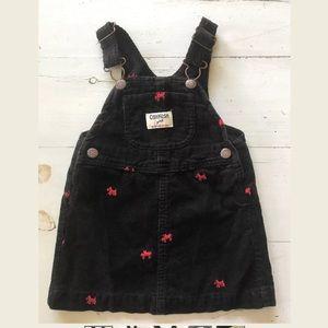 Girls Oshkosh B'gosh Overall Dress ~ Scottie Dogs